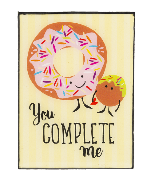 Ganz Mini Plaque You Complete Me