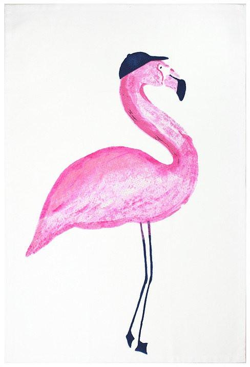 Mu Kitchen designer towel flamingo