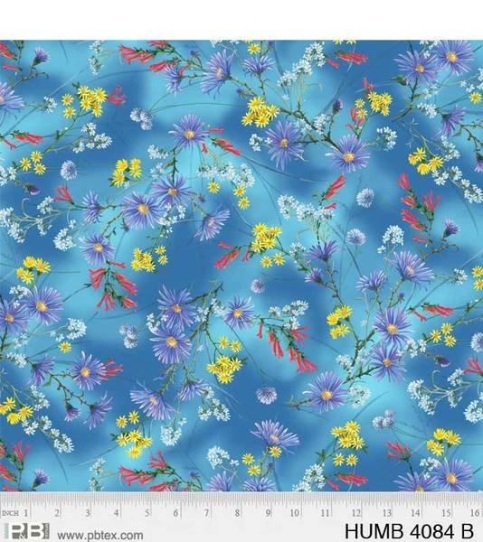 Hummingbirds Flowers Blue