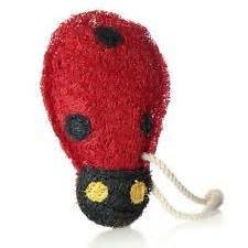 Loofah Art kitchen scrubber lady bug