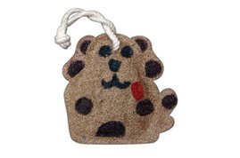 Loofah Art kitchen scrubber dog