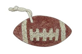 Loofah Art kitchen scrubber football