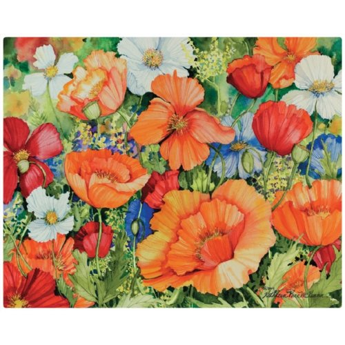 Magic Slice flexible cutting board lively poppies