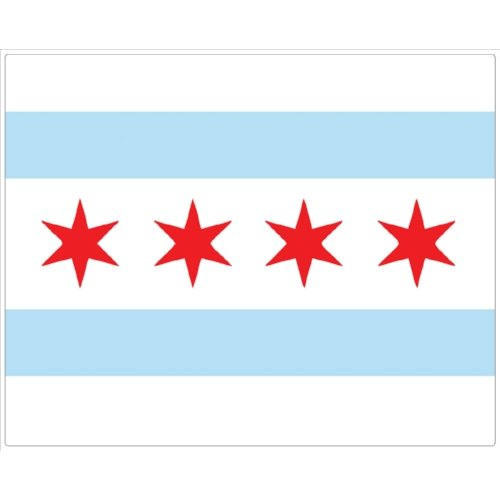 Magic Slice flexible cutting board Chicago flag
