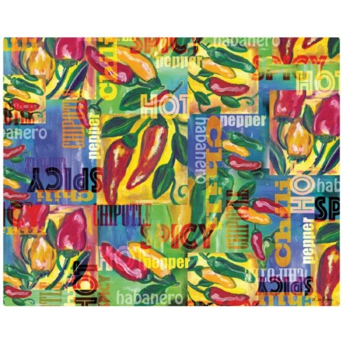 Magic Slice flexible cutting board chili peppers collage