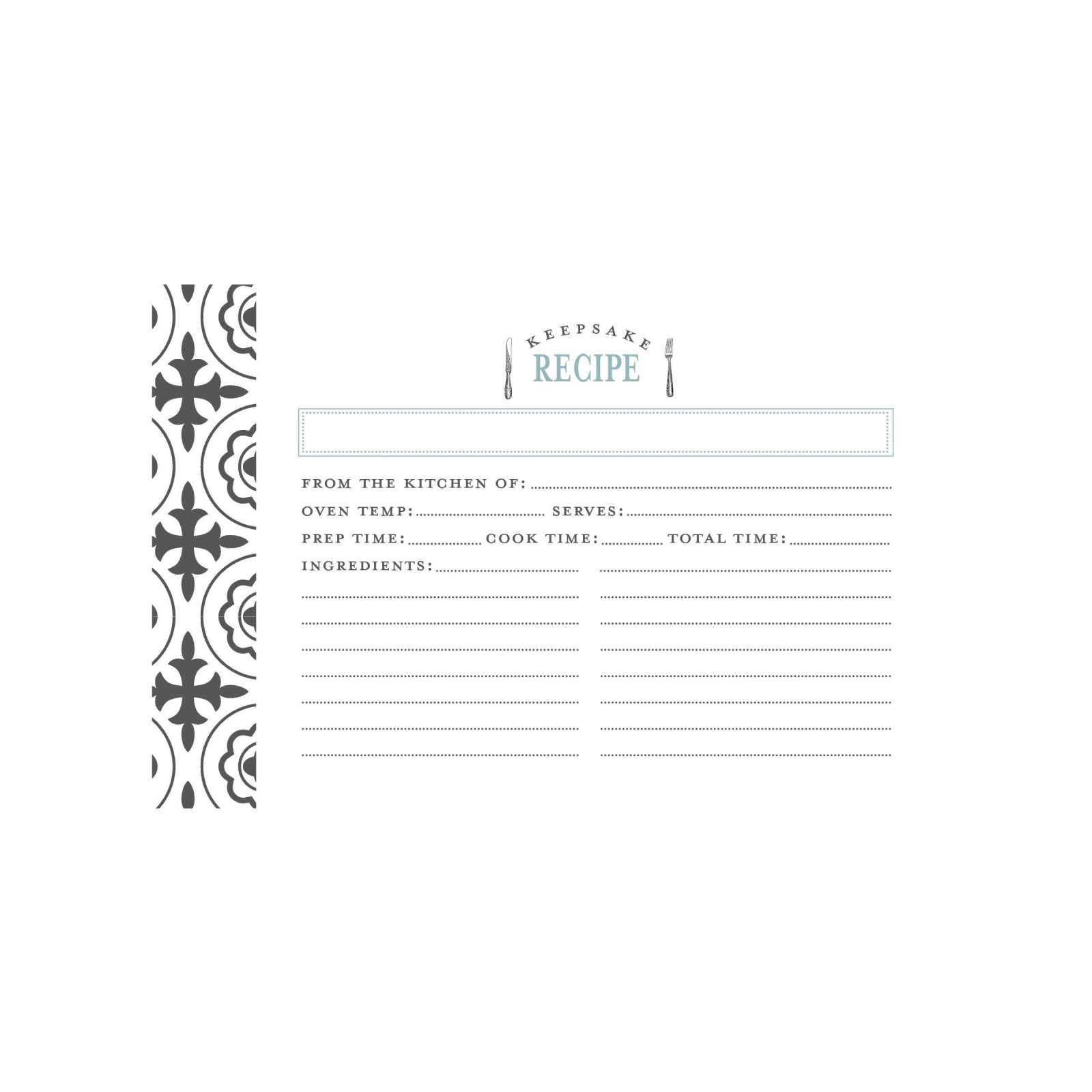 CR Gibson Recipe Cards Farmhouse