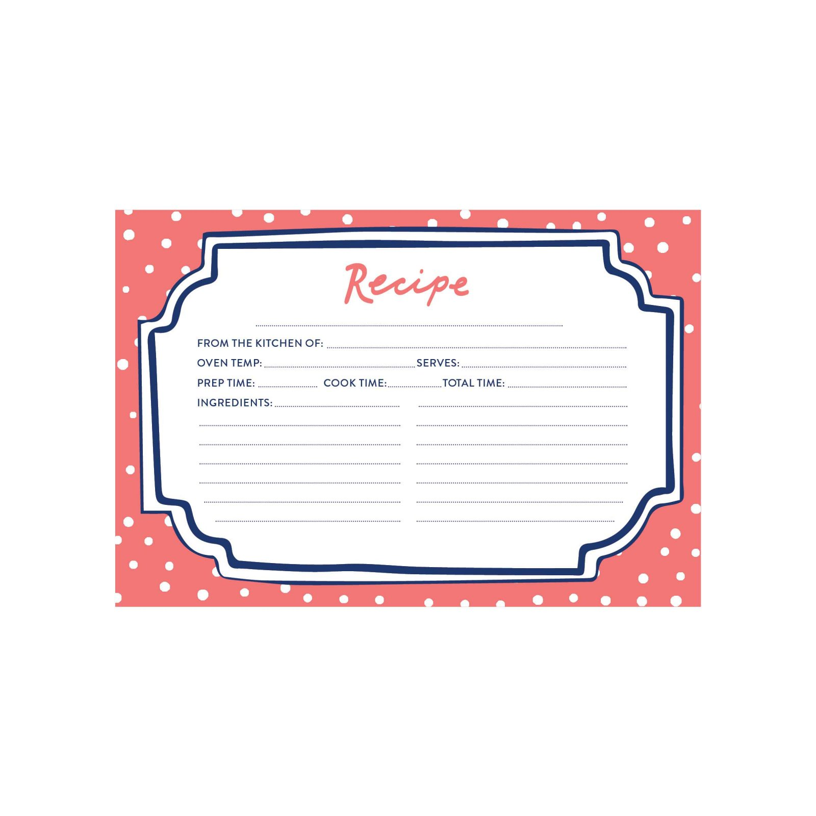 CR Gibson Recipe Cards Flourish