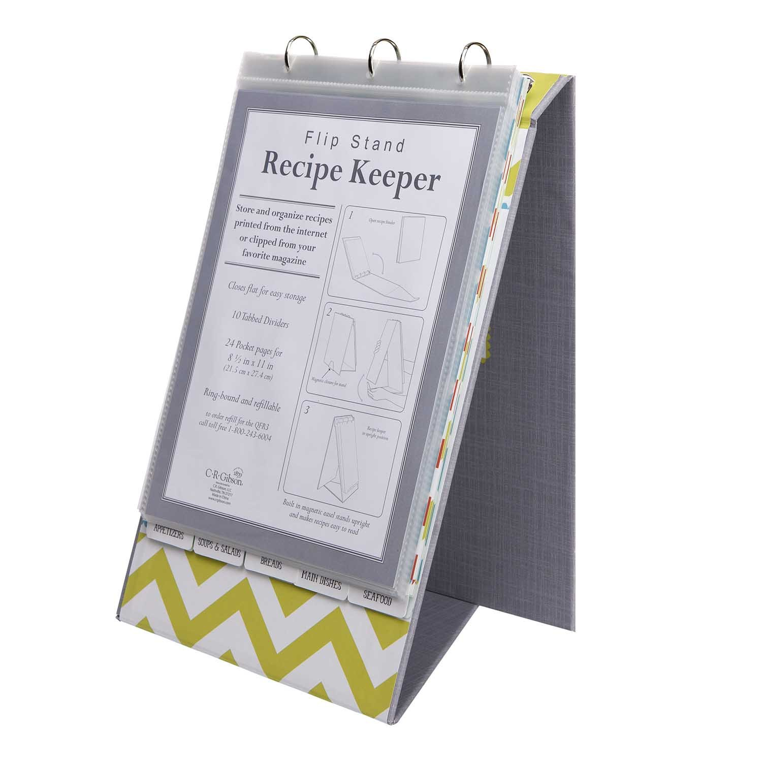 CR Gibson Recipe Keeper Kitchen Gear