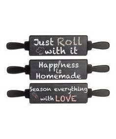 Ganz season everything with love rolling pin sign