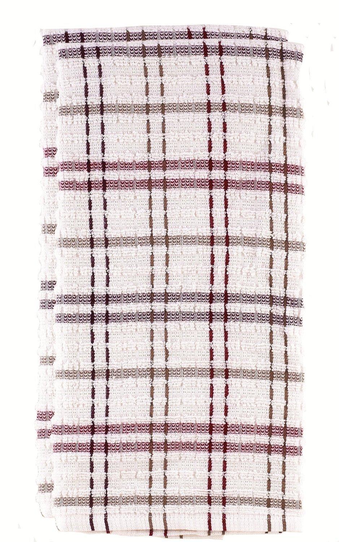 Ritz Royale check kitchen towel mocha