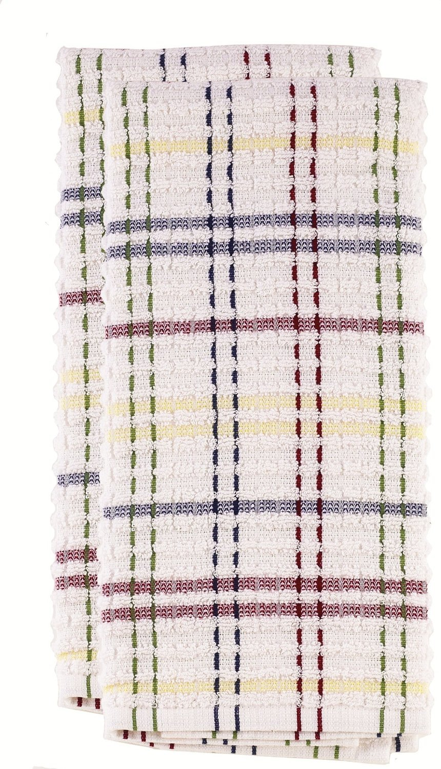 Ritz Royale check kitchen towel paprika