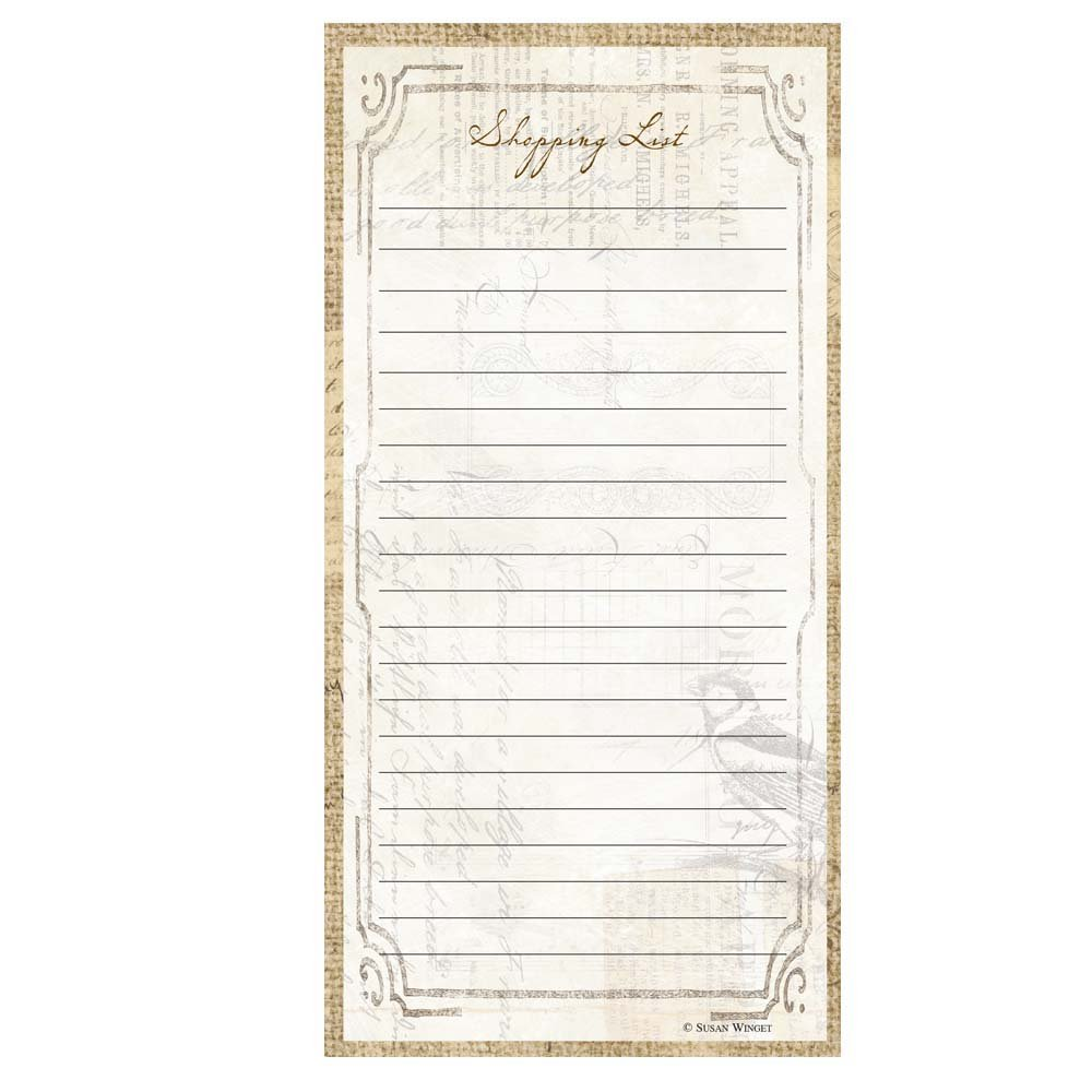 CR Gibson Magnetic Shopping List Pad Perfect Setting