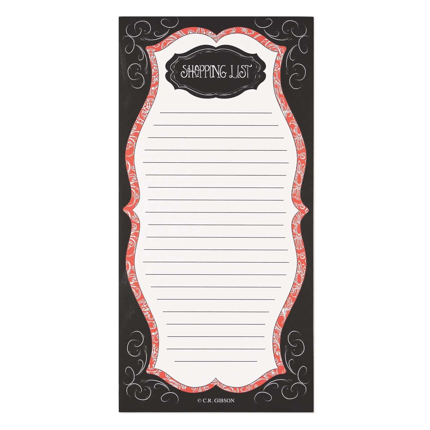 CR Gibson Magnetic Shopping List Pad Savory Eats