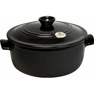 Emile Henry round stewpot 5.5qt charcoal