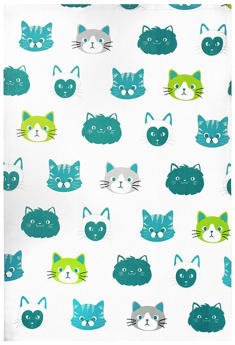 Mu Kitchen designer towel Cats