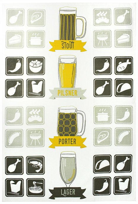 Mu Kitchen designer towel craft beer