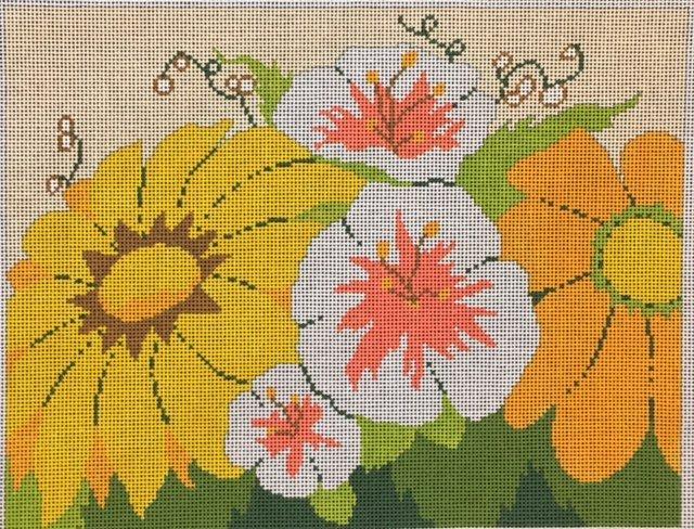 ASIT056 Sunflowers & Morning Glories