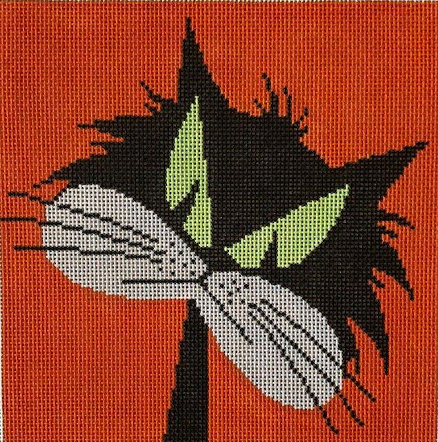 ASIT080 Cat with Attitude Orange