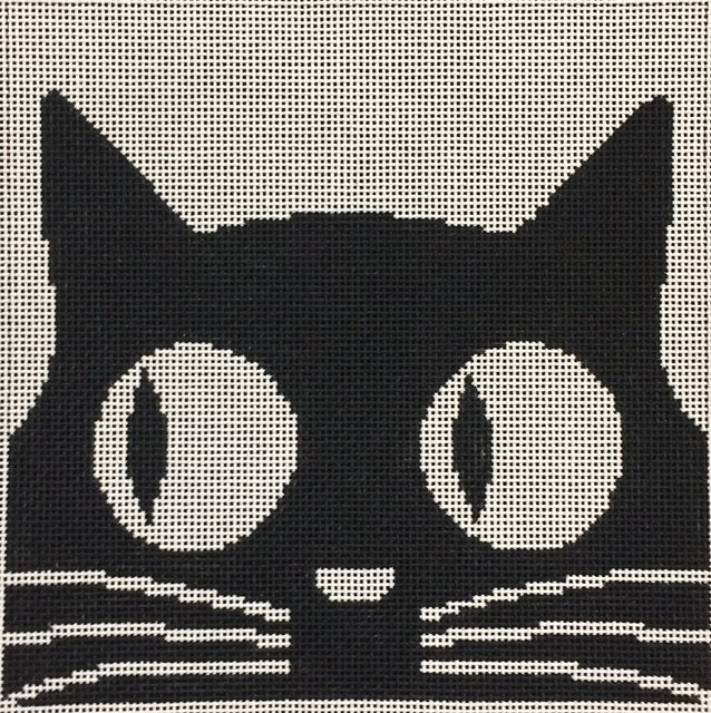 ASIT081 Black Cat Big Eyes