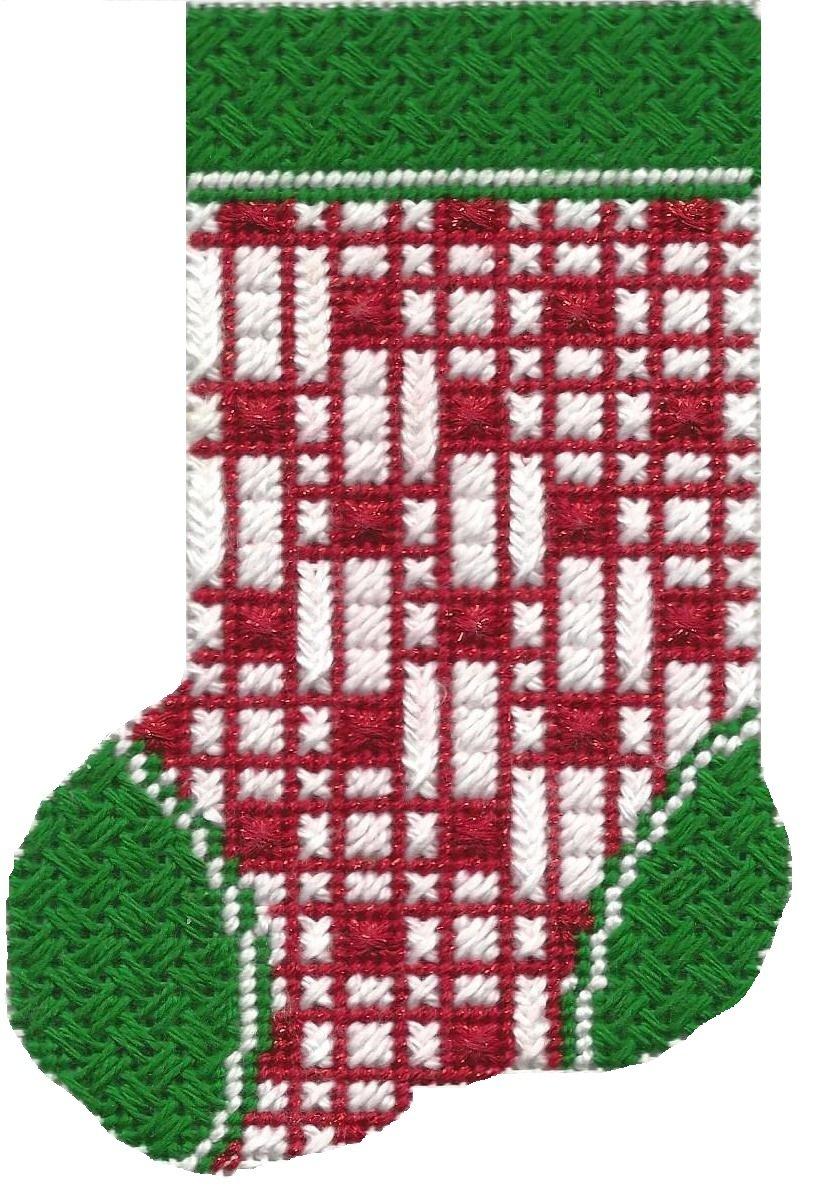 ASIT103 Mini Sock red/wht lines SG