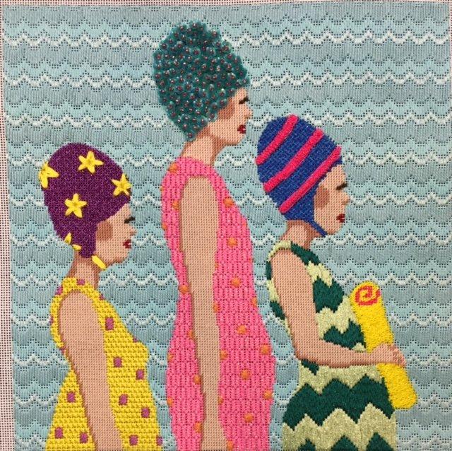 ASIT178SG Bathing Ladies Stitch Guide