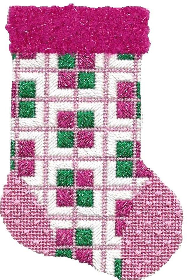 ASIT187 Mini Sock pink/grn SG