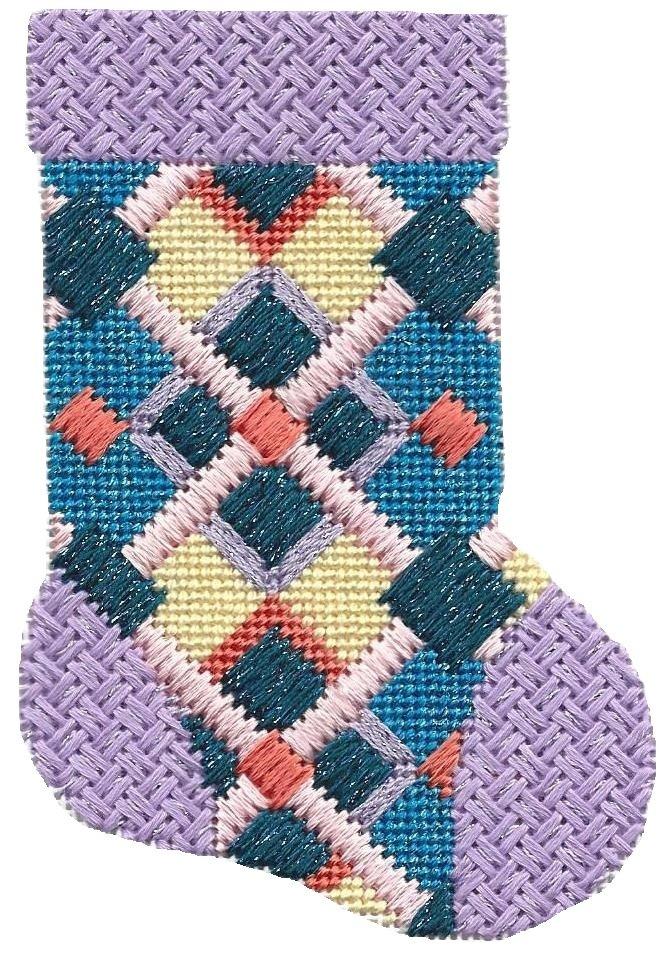 ASIT190 Mini Sock lav/blue SG