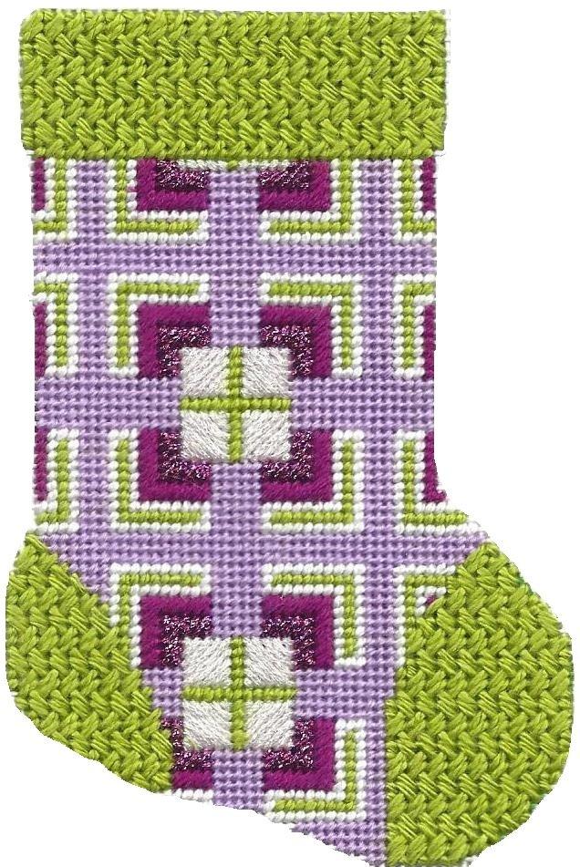 ASIT191 Mini Sock purple/green SG