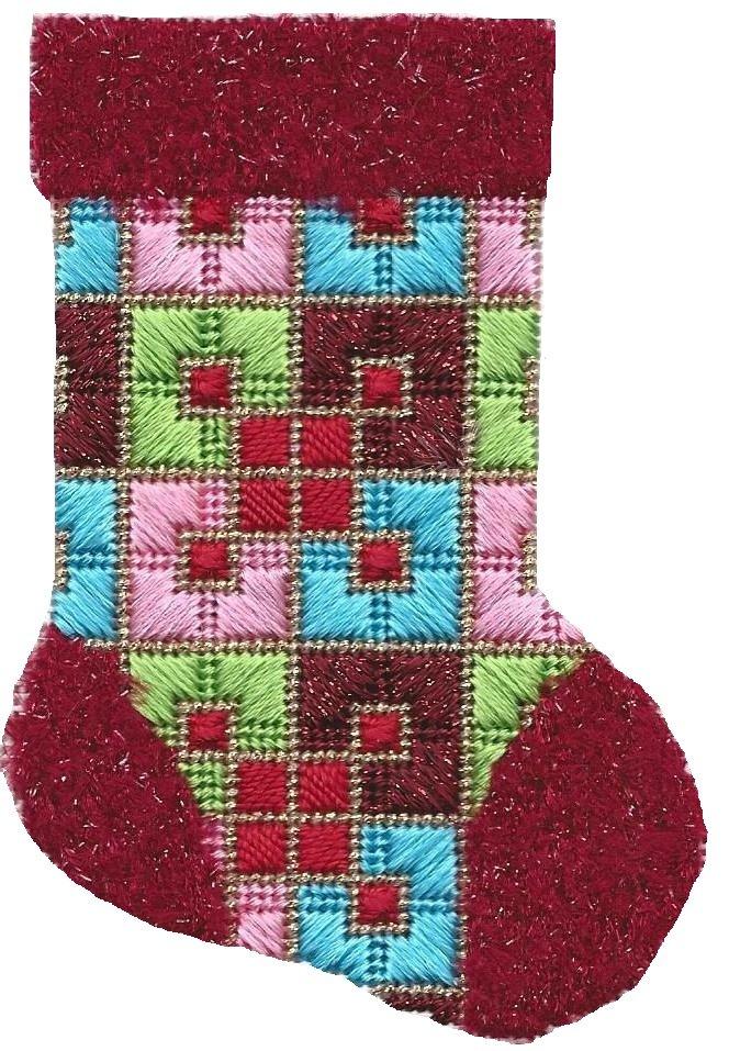 ASIT192 Mini Sock burg/peach/turq SG