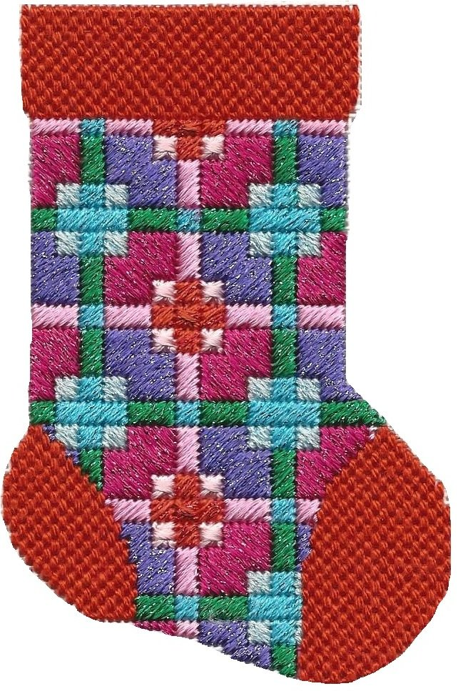 ASIT194 Mini Sock coral/purple SG