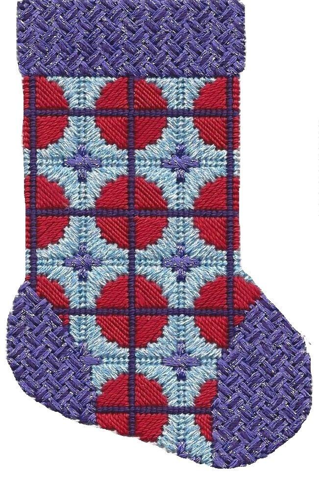 ASIT195 Mini Sock purple/red/lt blue SG