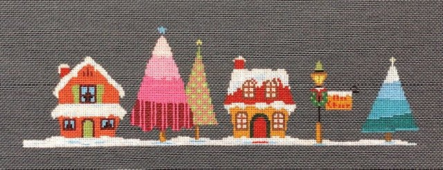 ASIT202e Orange House Pink Tree