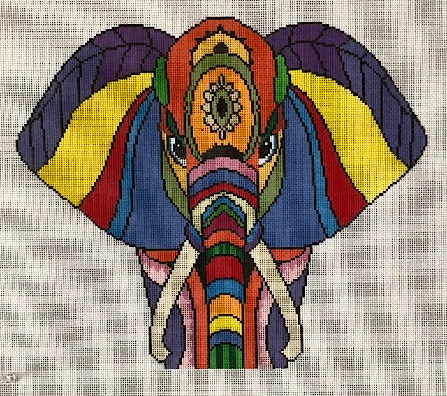 ASIT225SG Colorful Elephant Stitch Guide