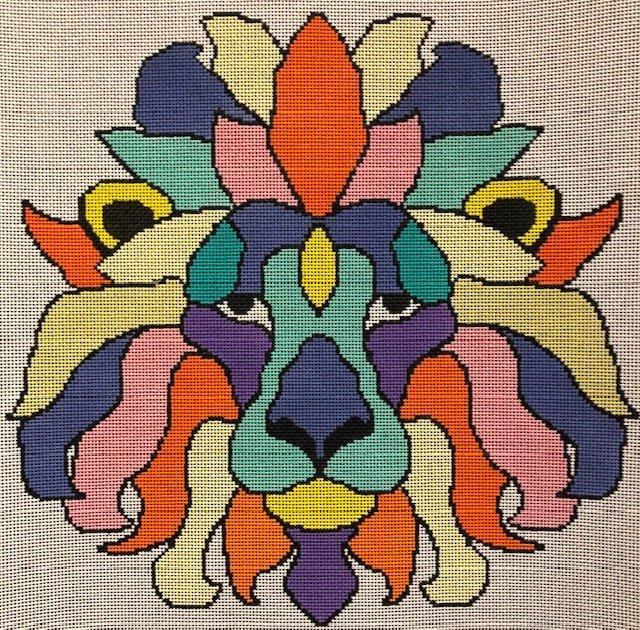ASIT280 Colorful Lion