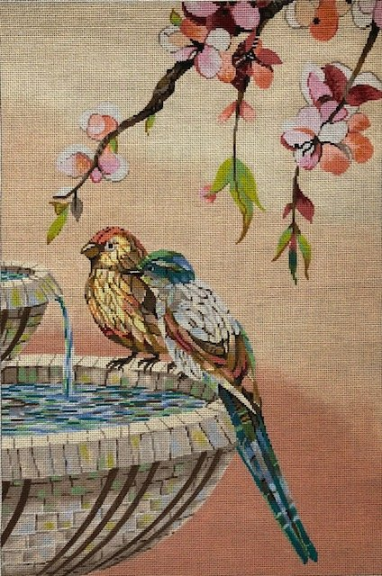 ASIT282 Birds in Fountain