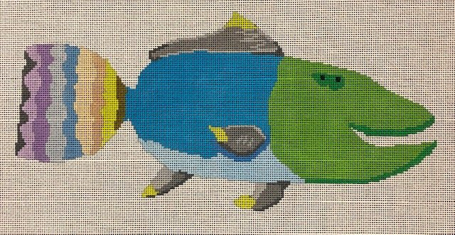 ASIT323 Green Electric Blue Fish