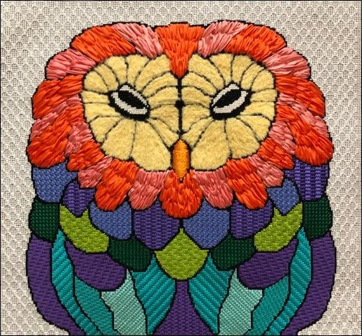 ASIT277SG Colorful Owl Stitch Guide