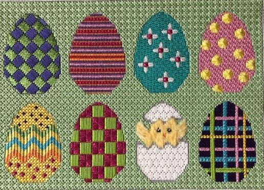 ASIT261 SG Easter Egg pillow
