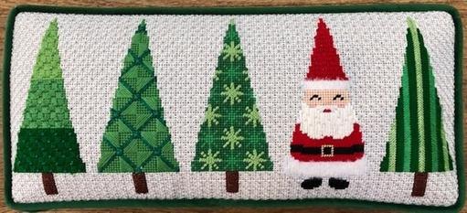ASIT260 SG Tree Pillow Santa