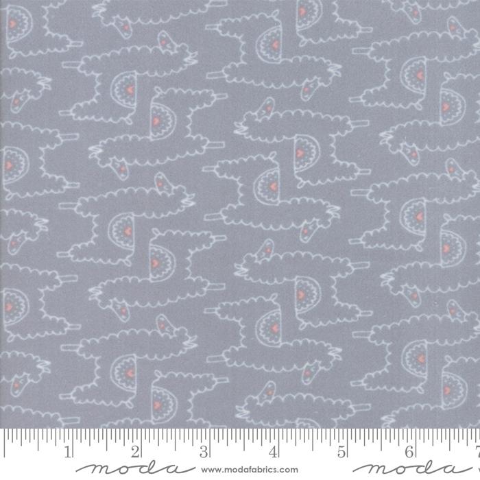 Soft Sweet Grey Cream Flannel 20603 19F