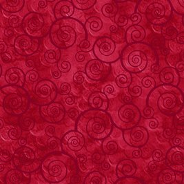 Harmony Curly Scroll Red 24778R