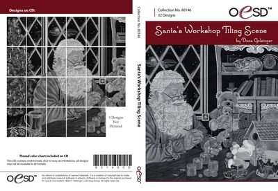 OESD Santa's Workshop Tiling Scene 80146CD