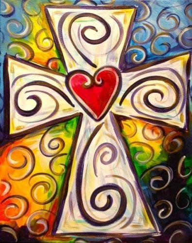 Colorful Cross 12x16 y003
