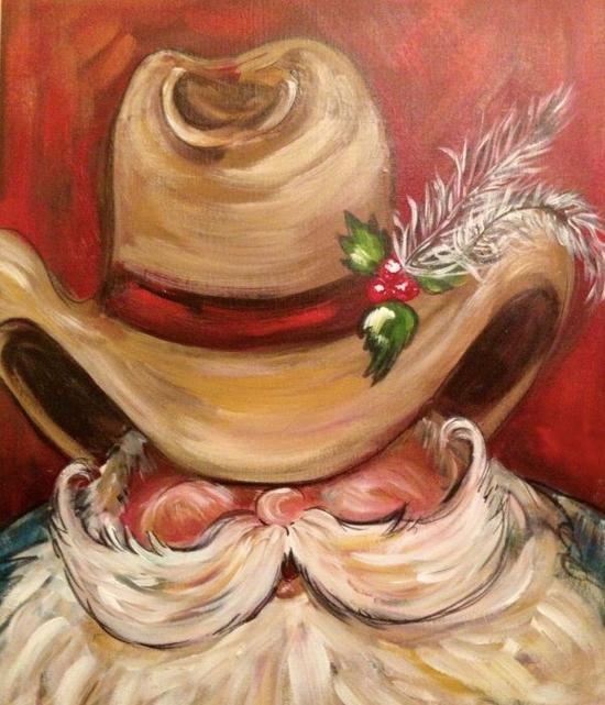 5D Cowboy Santa 12x16