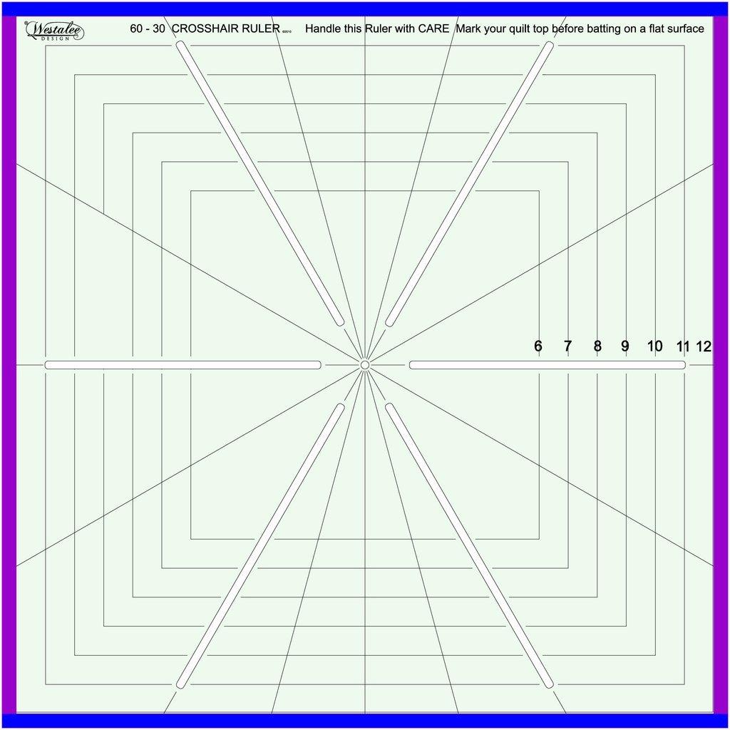 Cross Hair Square 8 pt. - 8.5 inch