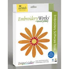 Embroidery works Flower EDG-EWEL