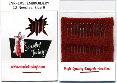 Needles Matchbook Embroidery sz9 12 ct ENR109