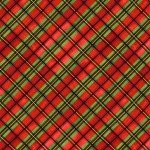 SALE Snow Bird Red Plaid Bias 2-ply Flannel F9121-88