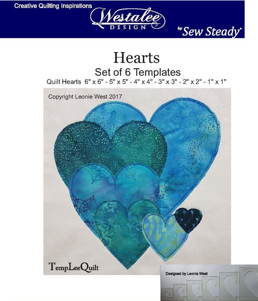 Westalee Hearts Template Set, LA