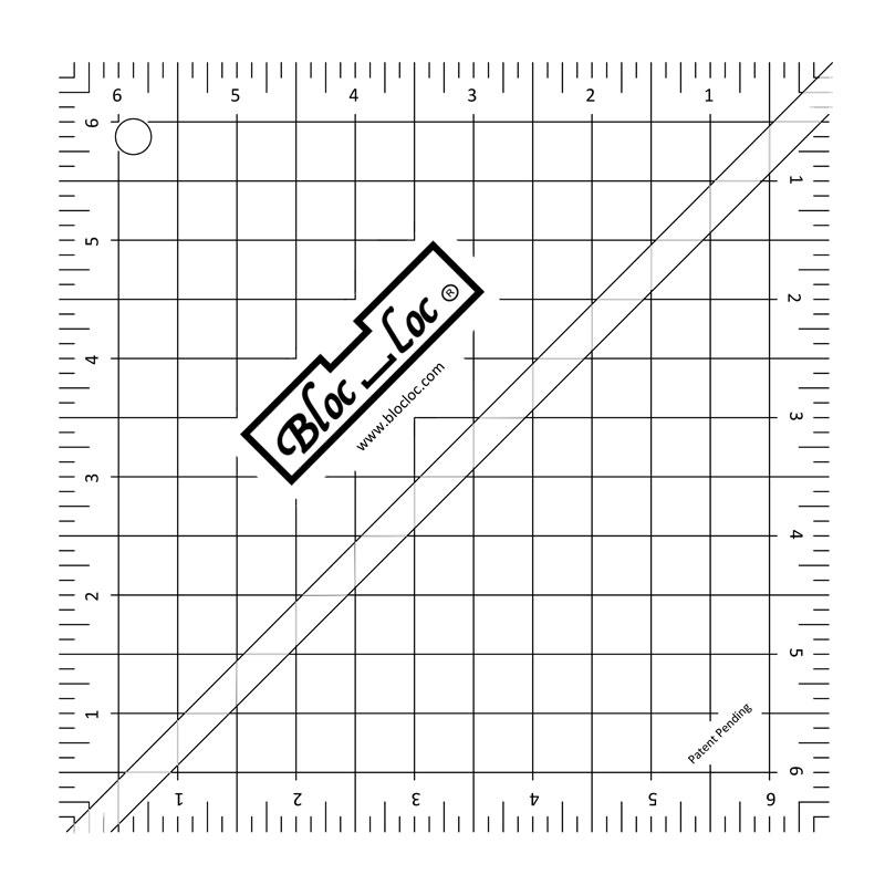 Bloc Loc Half Square Triangle Ruler 6.5 HST65
